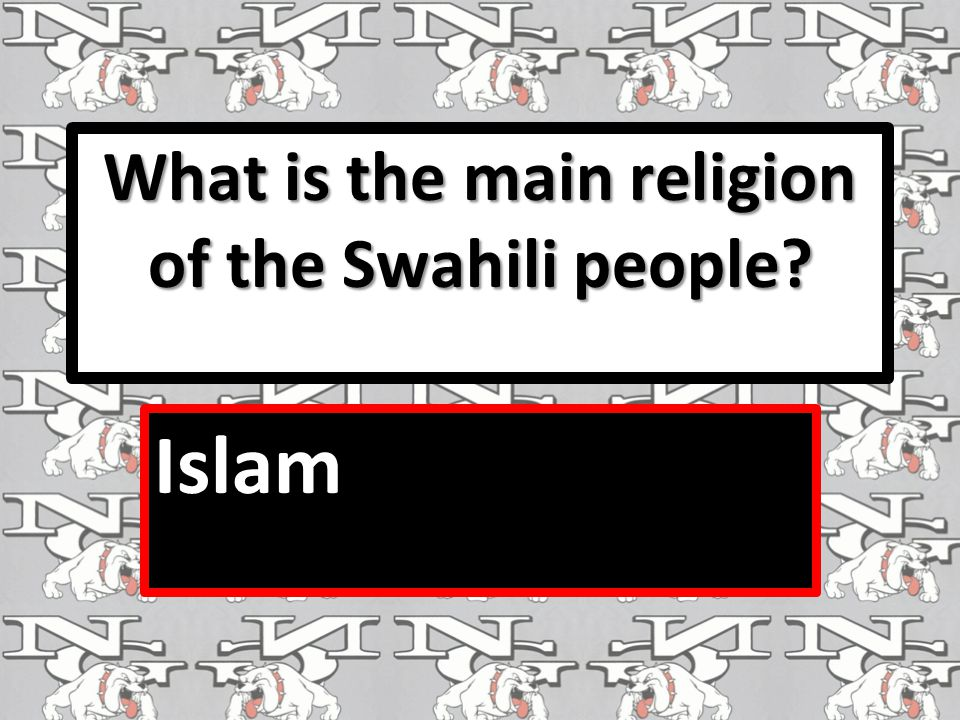 What is the main religion of the Swahili people