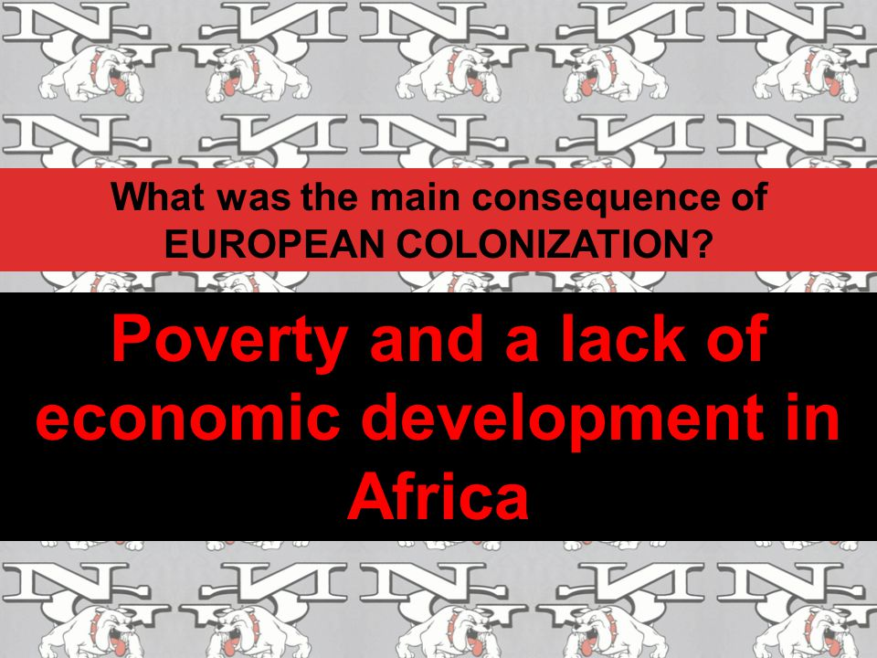 Poverty and a lack of economic development in Africa
