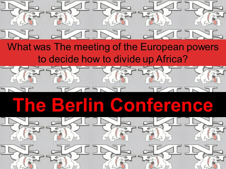 What was The meeting of the European powers to decide how to divide up Africa