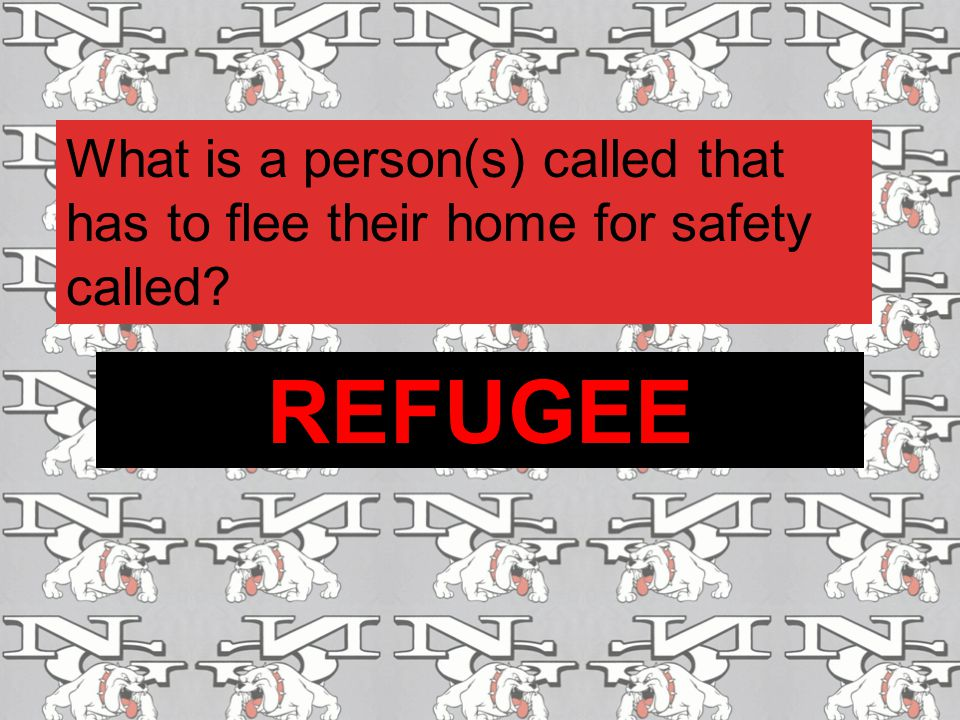 What is a person(s) called that has to flee their home for safety called