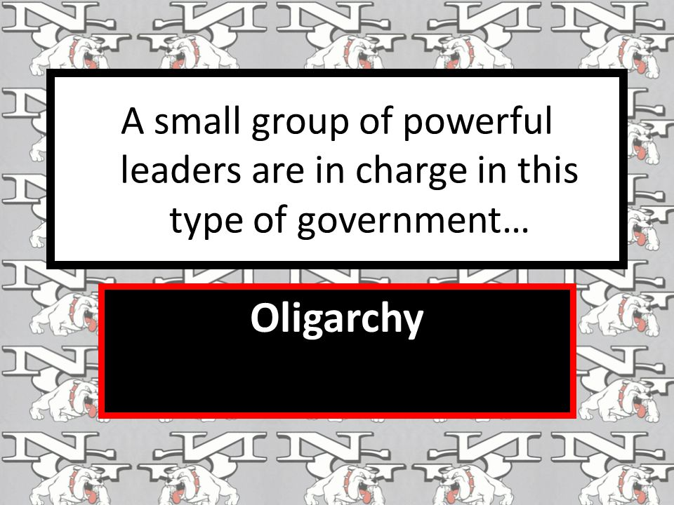 A small group of powerful leaders are in charge in this type of government…