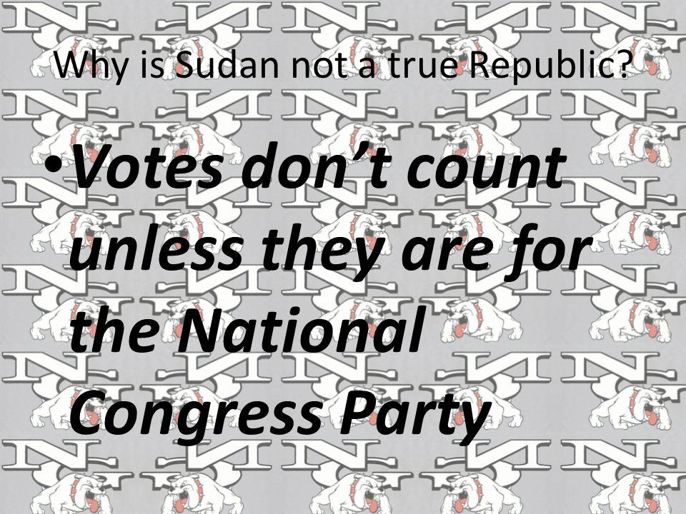 Why is Sudan not a true Republic