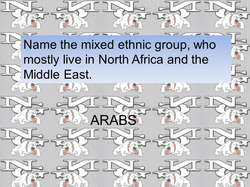 Name the mixed ethnic group, who mostly live in North Africa and the Middle East.