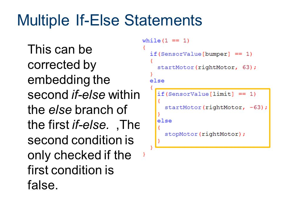 Multiple If-Else Statements