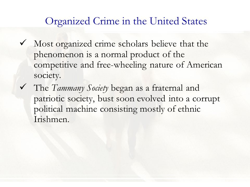 Organized Crime in the United States