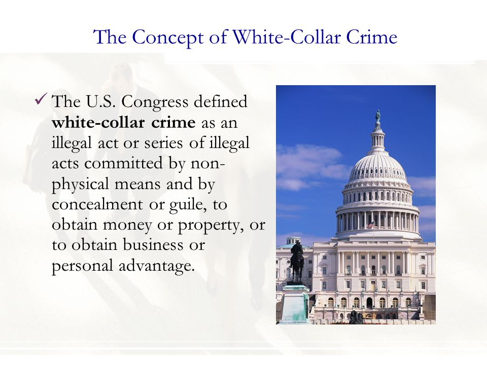 The Concept of White-Collar Crime