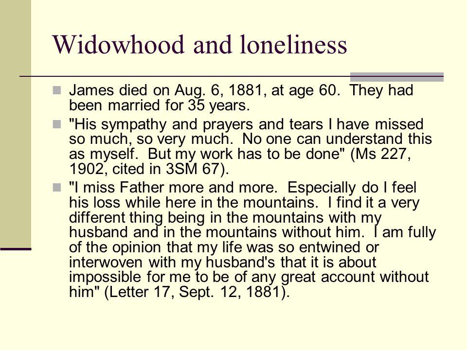 Widowhood and loneliness