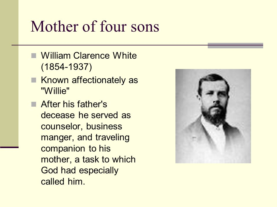 Mother of four sons William Clarence White (1854-1937)