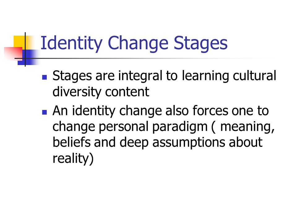 Identity Change Stages