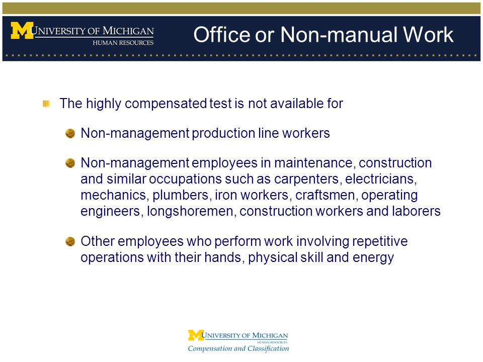 Office or Non-manual Work