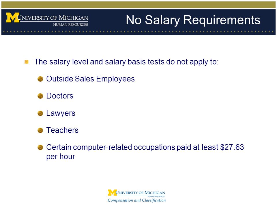 No Salary Requirements