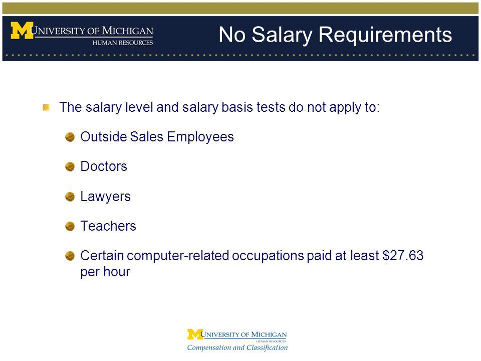 No Salary Requirements