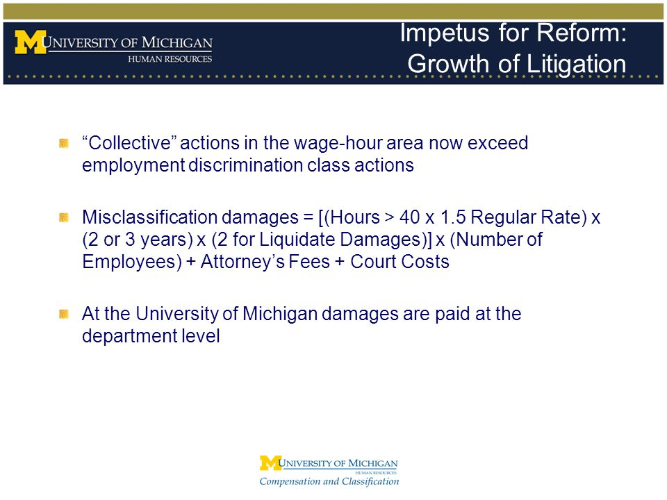 Impetus for Reform: Growth of Litigation