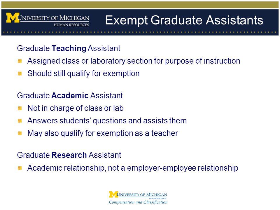 Exempt Graduate Assistants