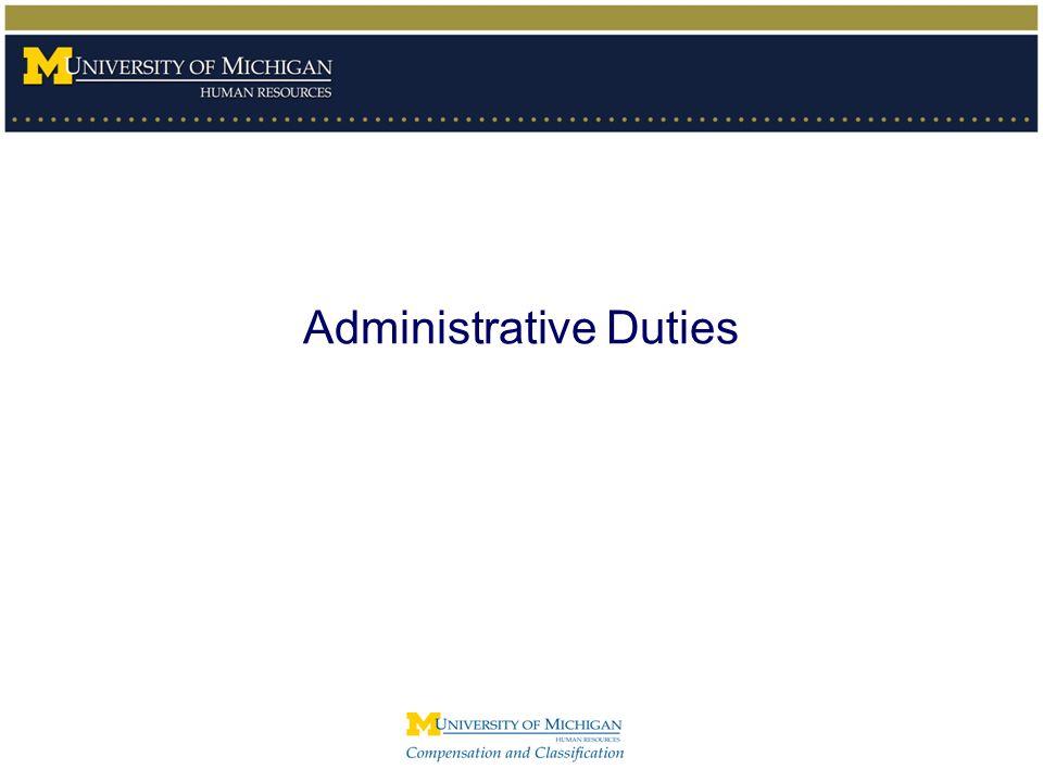 Administrative Duties