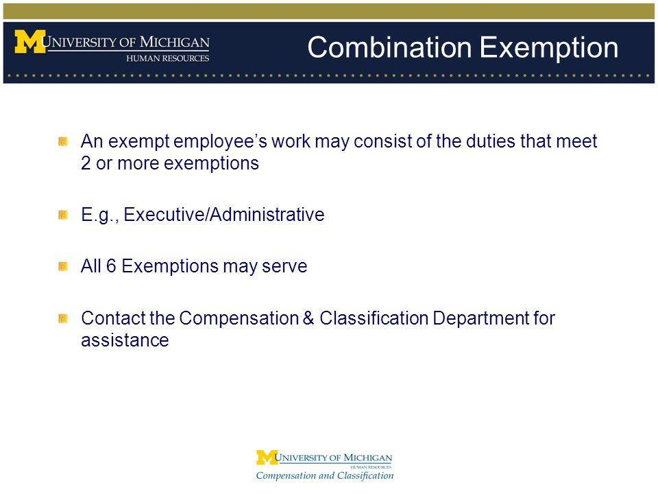 Combination Exemption