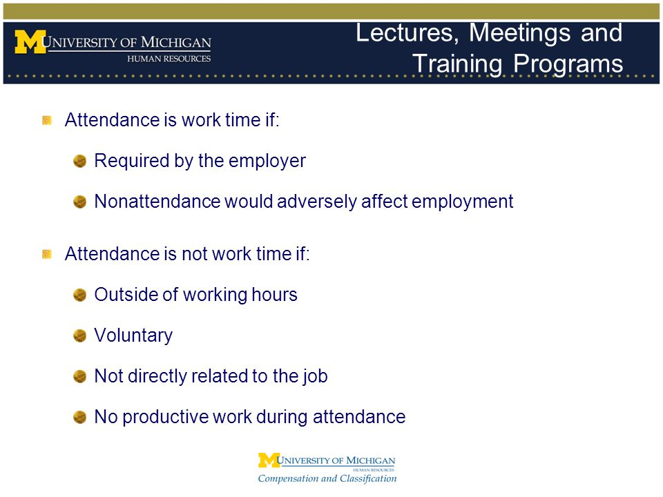 Lectures, Meetings and Training Programs