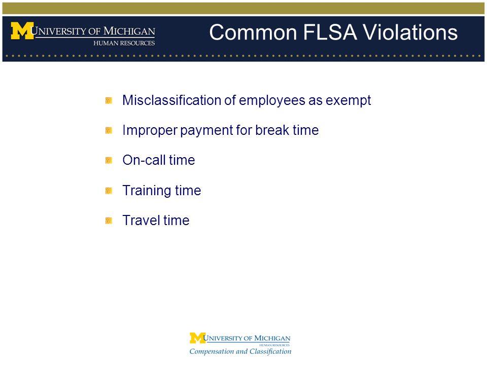 Common FLSA Violations