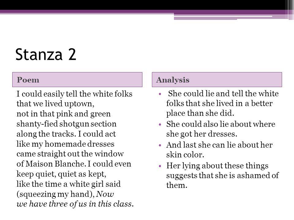 Stanza 2 Poem. Analysis.