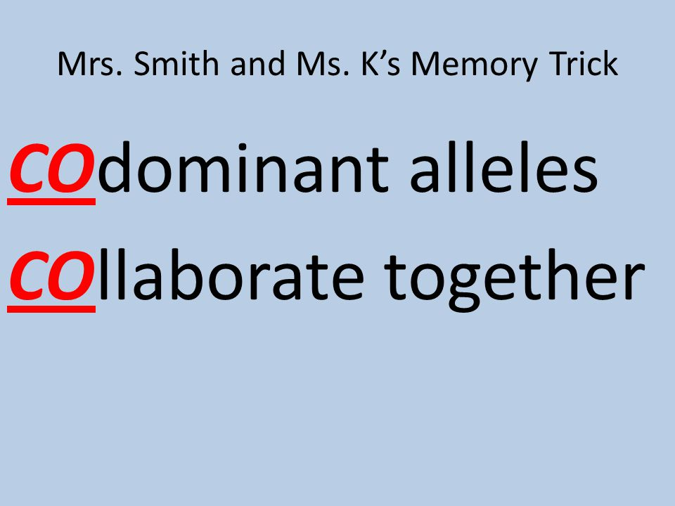 Mrs. Smith and Ms. K's Memory Trick