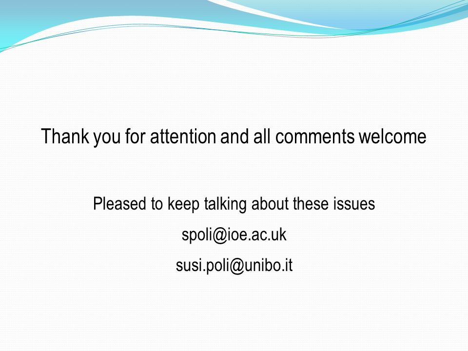 Thank you for attention and all comments welcome