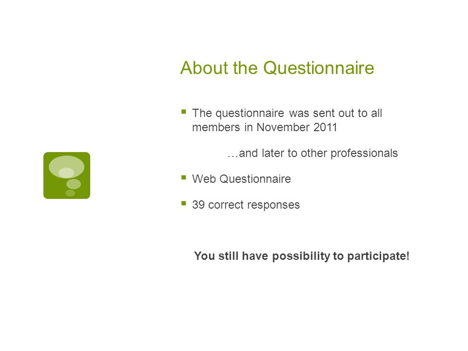 About the Questionnaire