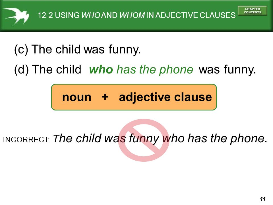 noun + adjective clause