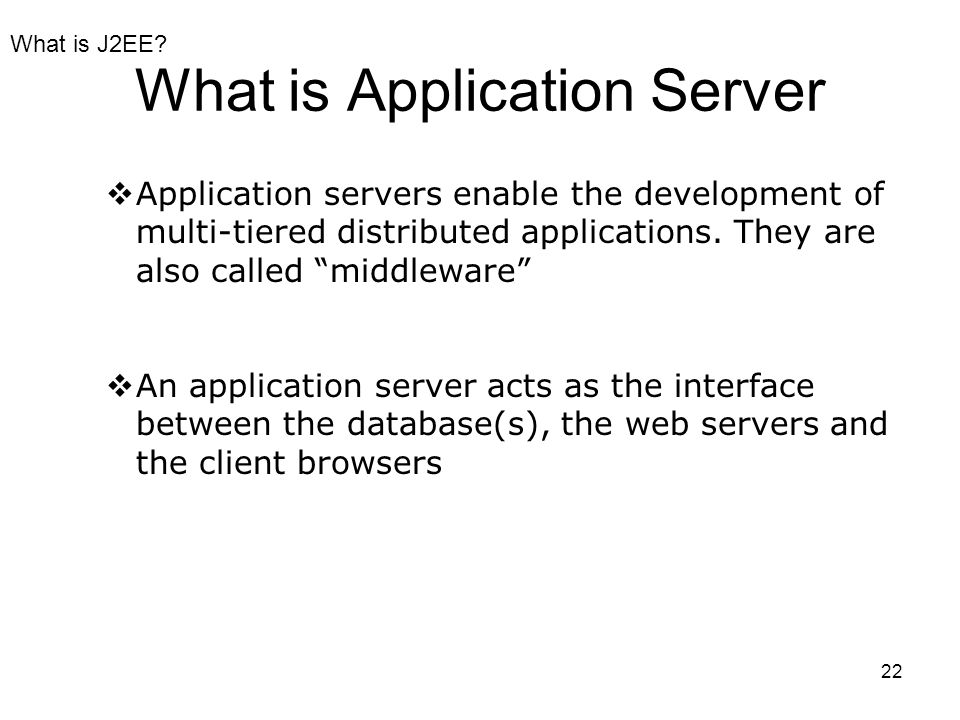 What is Application Server