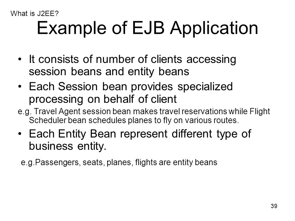 Example of EJB Application