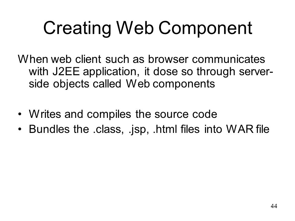 Creating Web Component