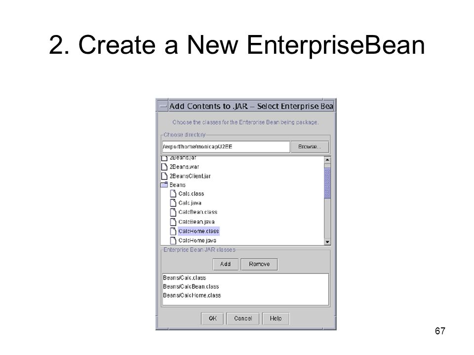 2. Create a New EnterpriseBean