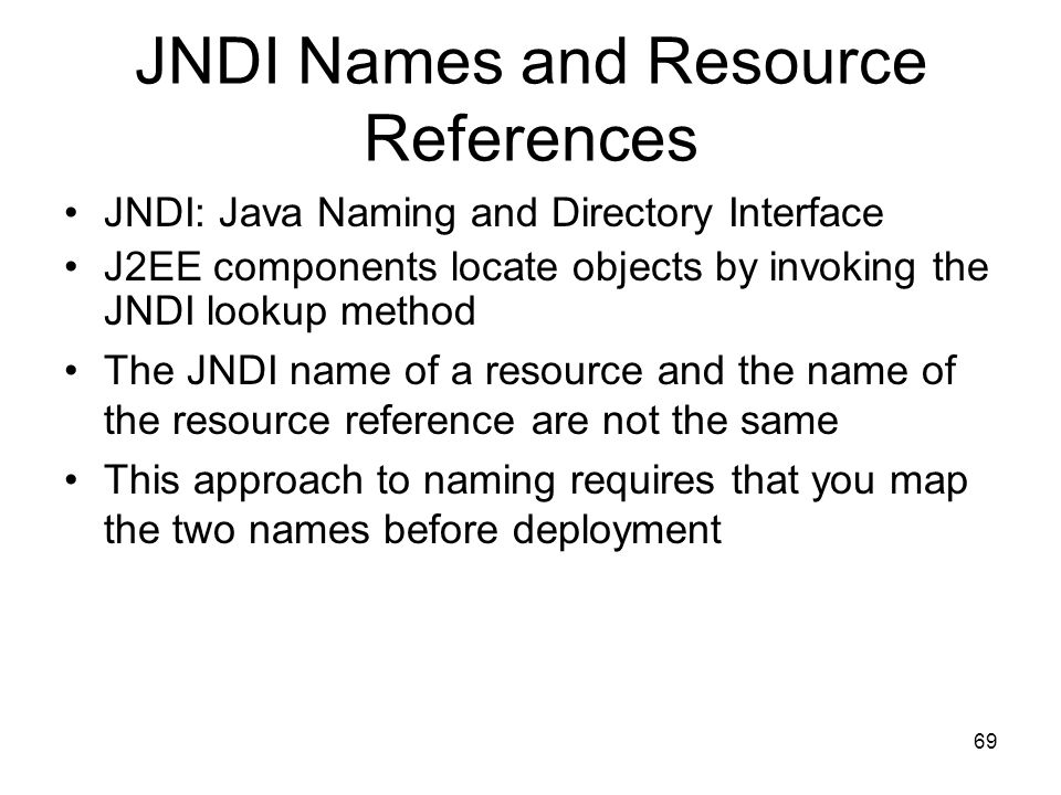 JNDI Names and Resource References