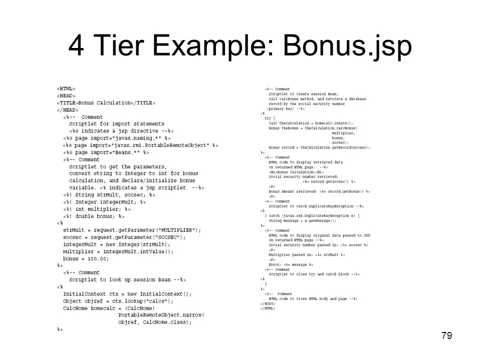 4 Tier Example: Bonus.jsp