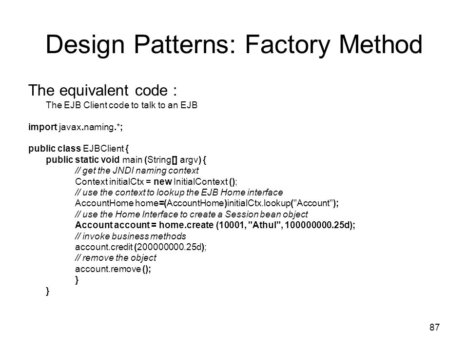 Design Patterns: Factory Method