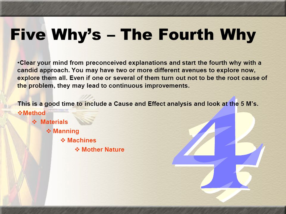 Five Why's – The Fourth Why