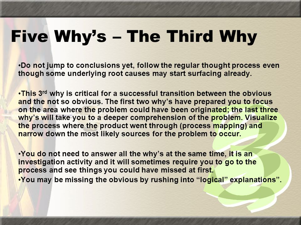 Five Why's – The Third Why
