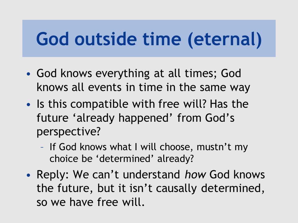 God outside time (eternal)
