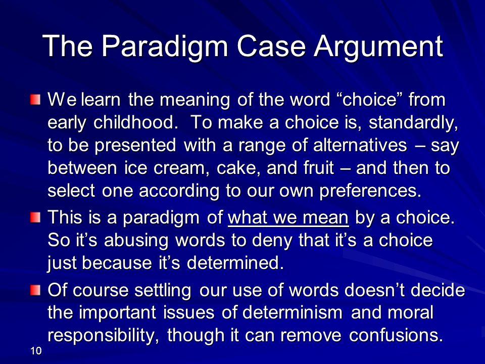 The Paradigm Case Argument