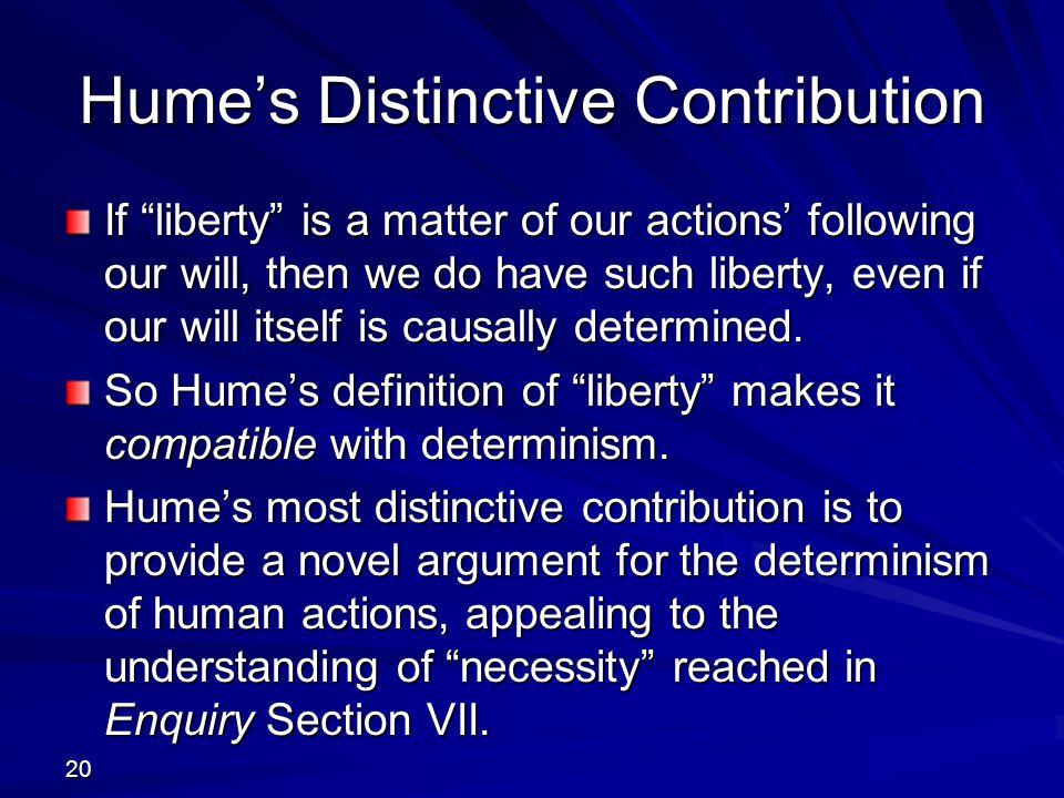 Hume's Distinctive Contribution