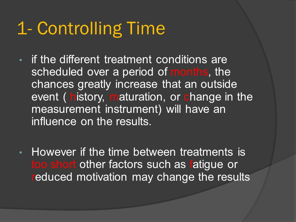 1- Controlling Time