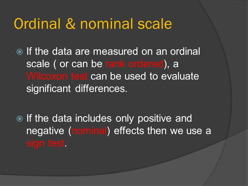 Ordinal & nominal scale