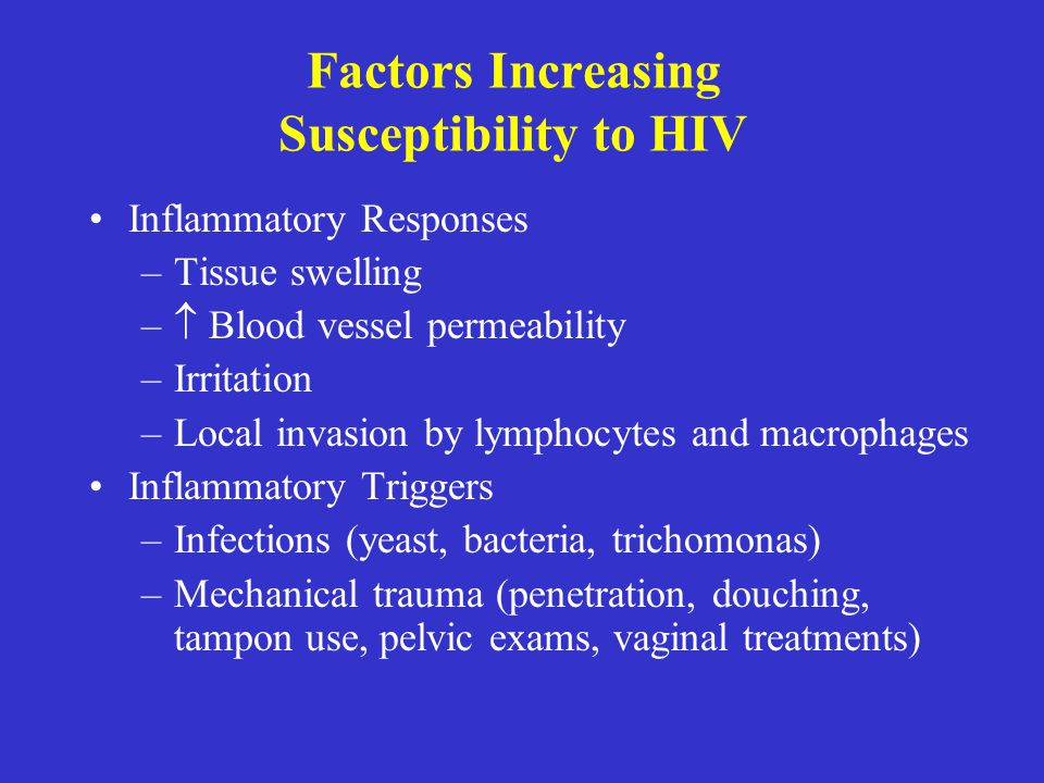 Factors Increasing Susceptibility to HIV