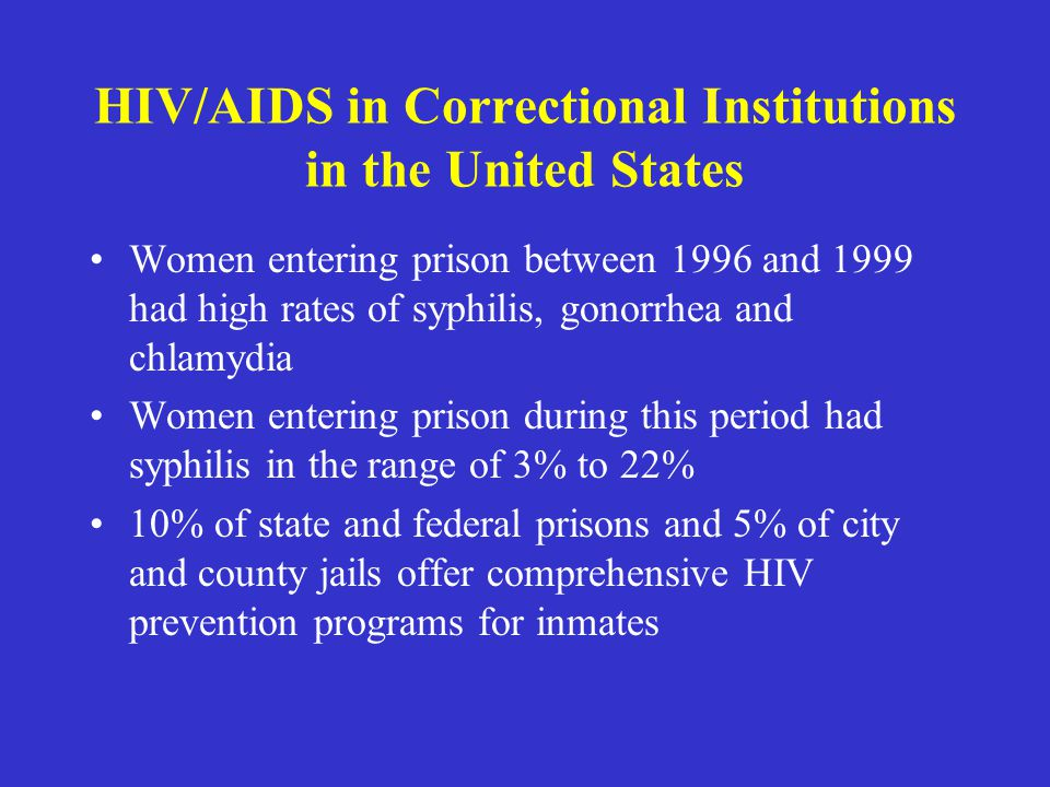 HIV/AIDS in Correctional Institutions in the United States