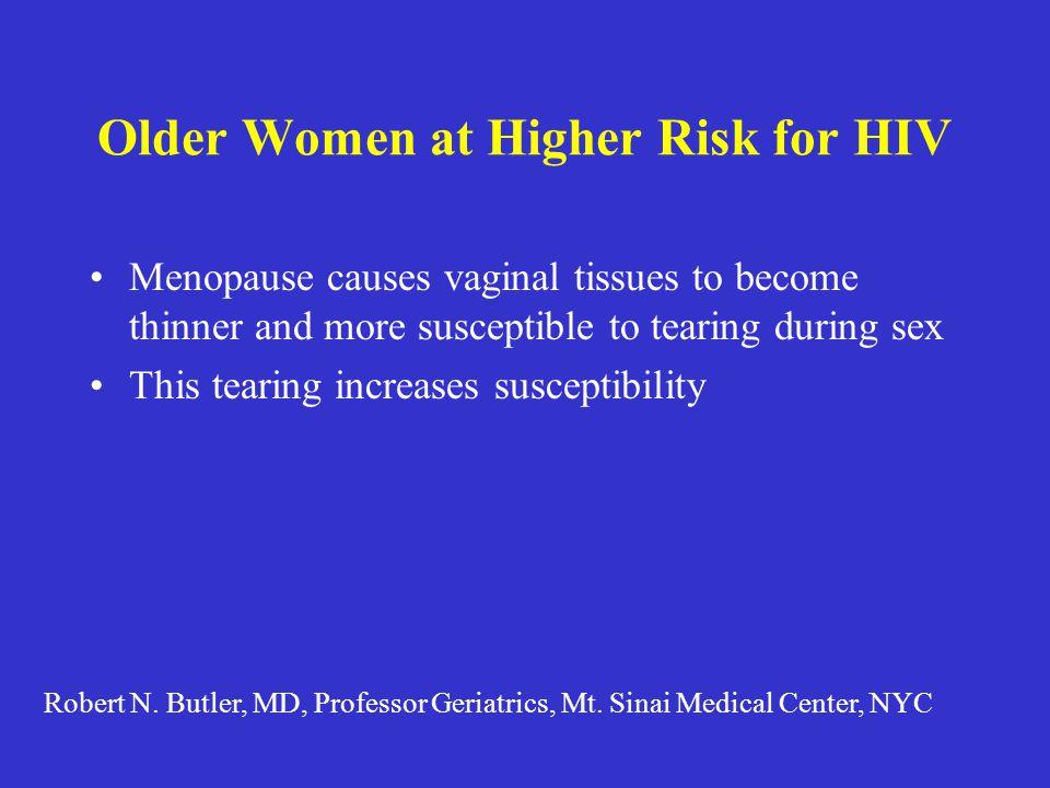 Older Women at Higher Risk for HIV