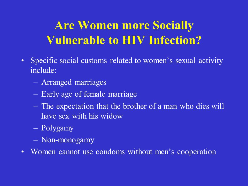 Are Women more Socially Vulnerable to HIV Infection