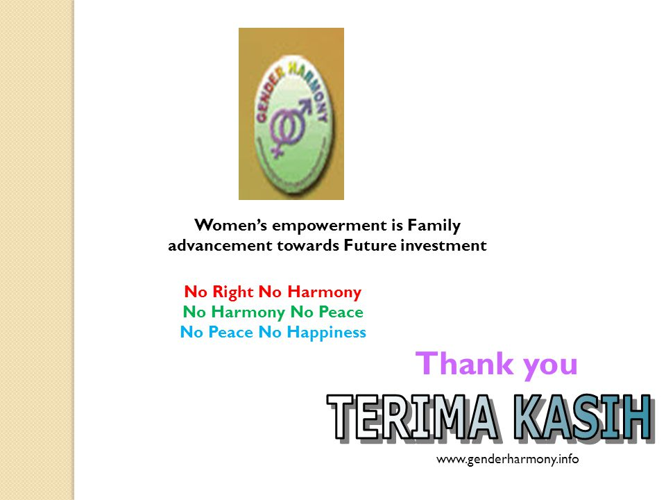 Women's empowerment is Family advancement towards Future investment