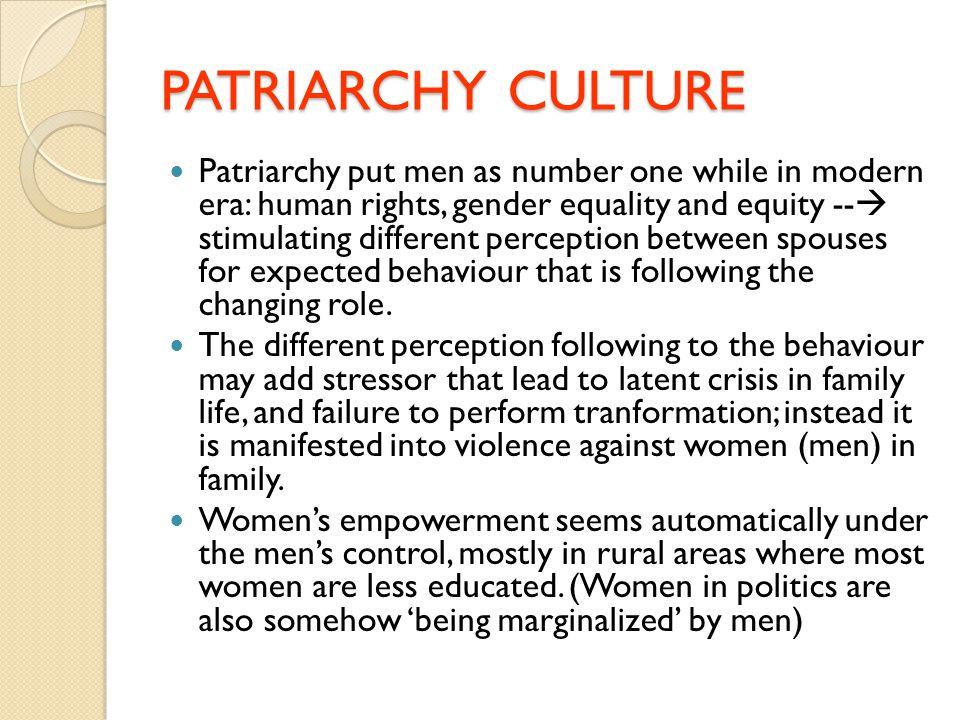 PATRIARCHY CULTURE