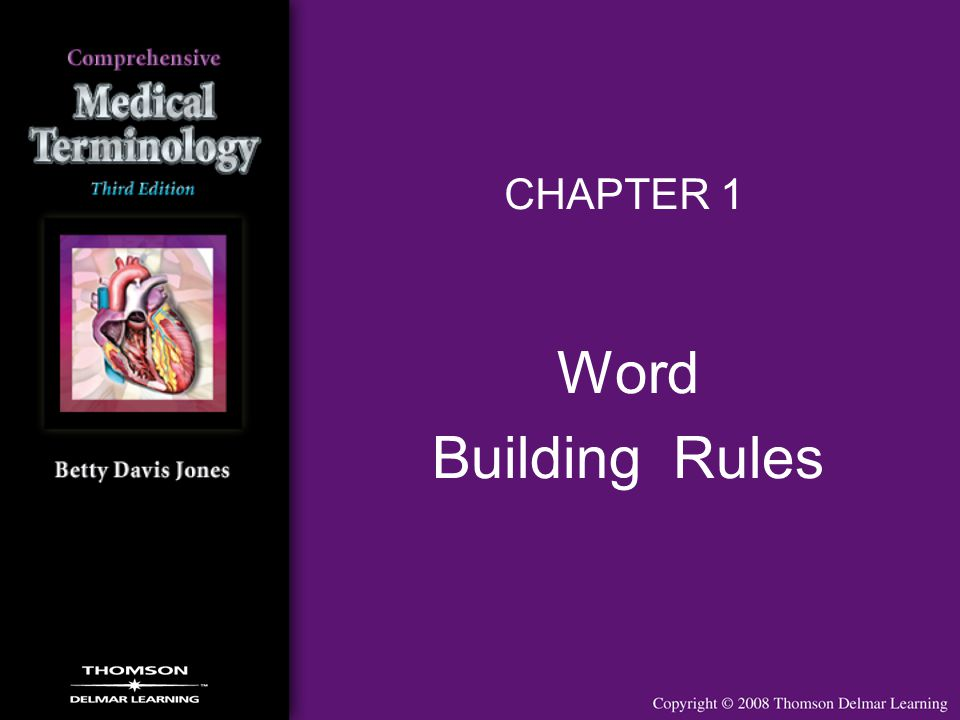CHAPTER 1 Word Building Rules