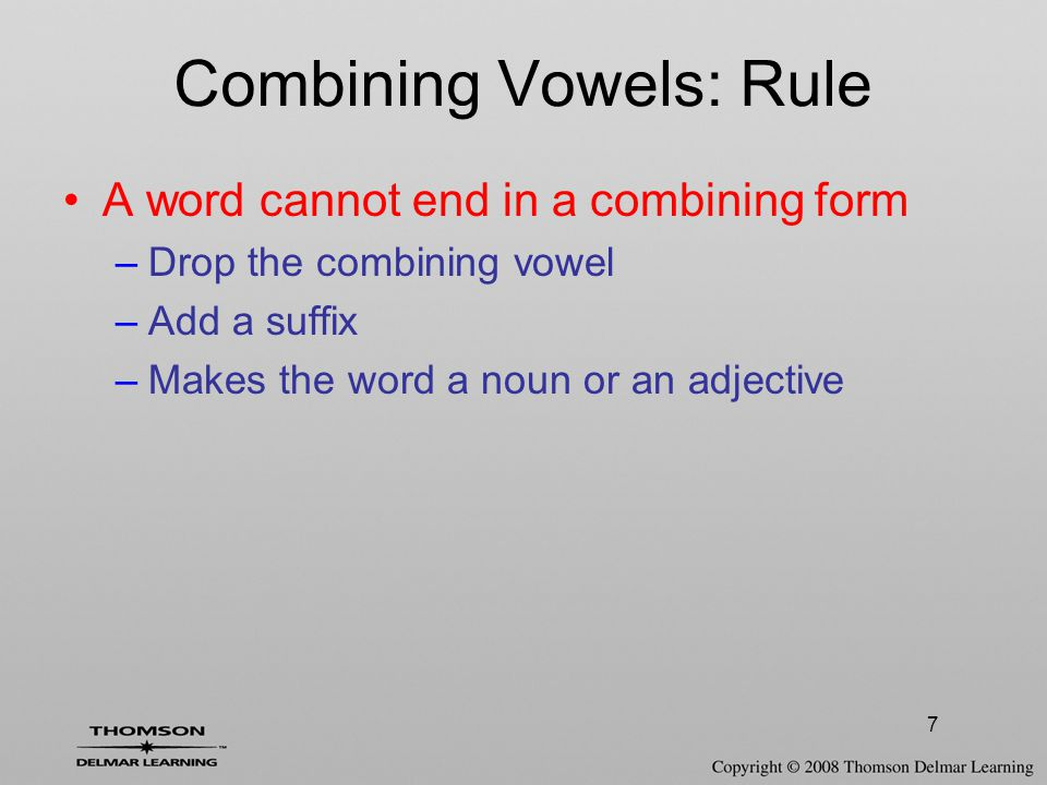 Combining Vowels: Rule