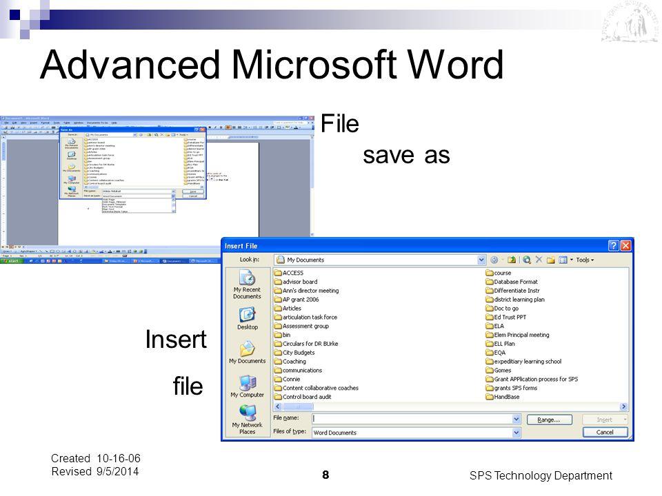 Advanced Microsoft Word